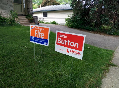 [election lawn signs]