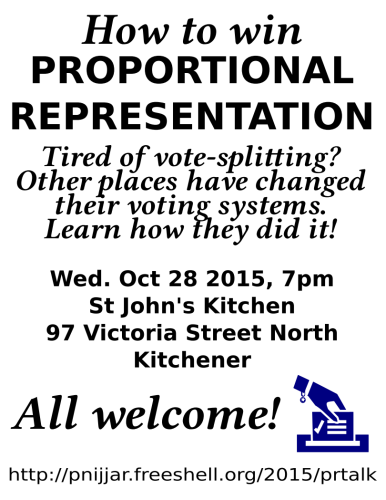 How to win Proportional Representation flyer